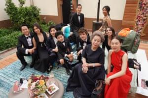 The cast and key crew of Minari