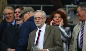 Jeremy Corbyn attends the England-France friendly at Wembley on Tuesday