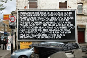 'William Blake Poem' in a Bethnal Green billboard in London, from 2014.