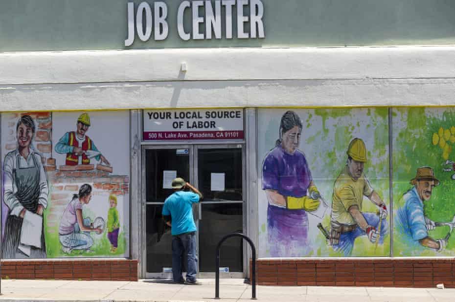 man at job center