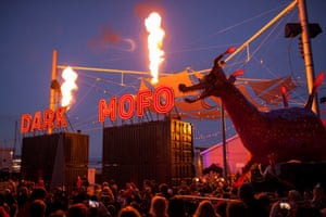 Ogoh-ogoh is marched through Hobart at the closing ceremony of Dark Mofo 2016