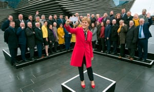 SNP leader Nicola Sturgeon made the comments during an event at the new V&A Museum in Dundee, Scotland.