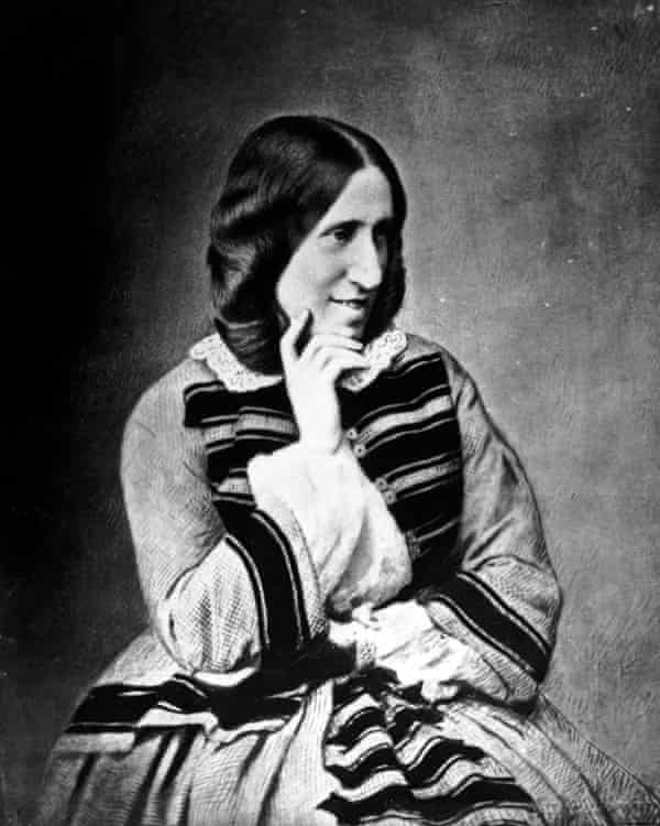 A photograph of George Eliot taken in 1858.