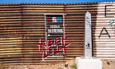 indecline now hiring border wall artwork