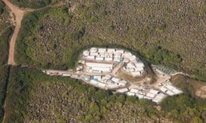 An Australian-run detention centre on Nauru.