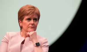 Nicola Sturgeon during the 2019 SNP conference in Aberdeen.