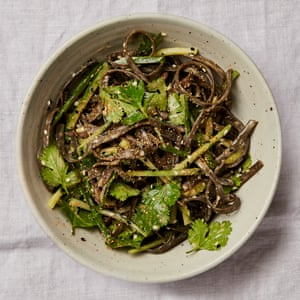 A salty side: Yotam Ottlenghi's seaweed and sesame salad with tahini dressing.