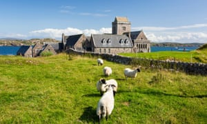Iona Abbey on Iona, off the island of Mull in Scotland.