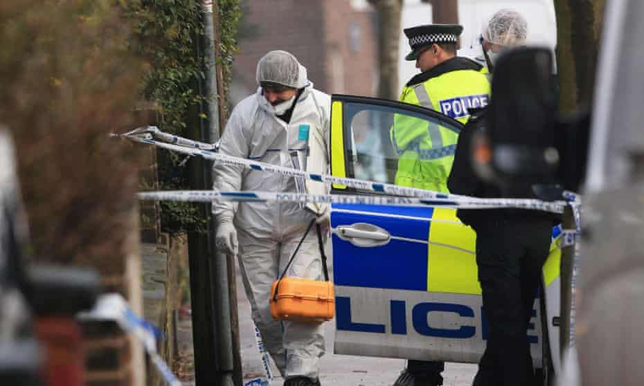 Forensics officers in Reddish