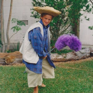 A photo of William dressed as the tiny cowboy.