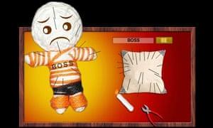 Illustration of voodoo dolls study.