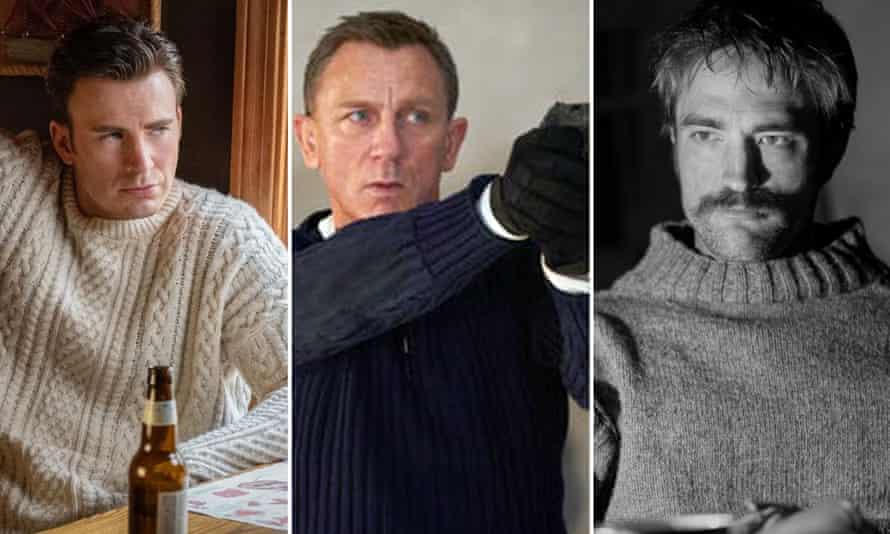 Get knitted: Chris Evans, Daniel Craig and Robert Pattinson.