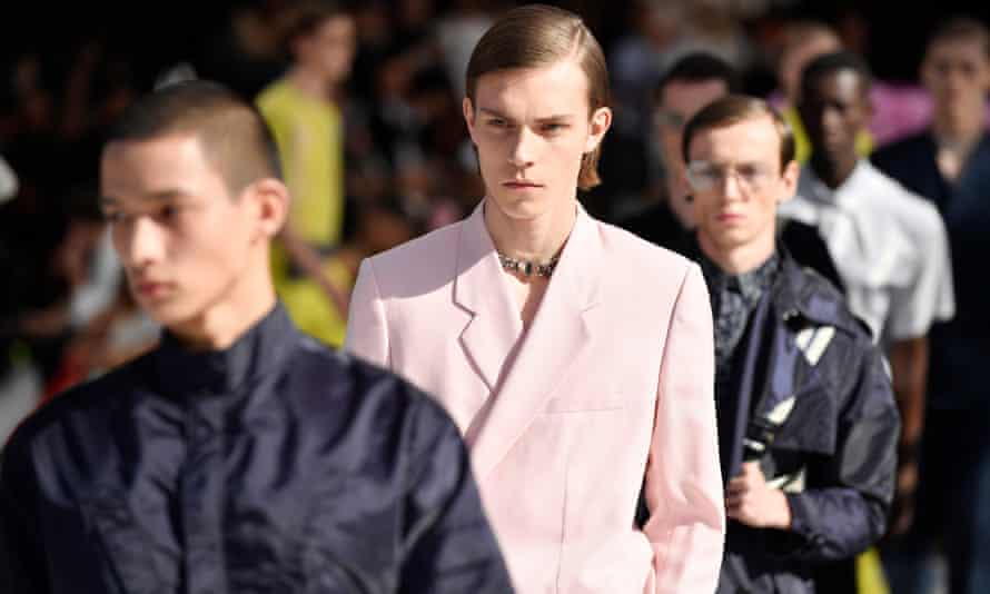 From the runway of Kim Jones's first Dior Men collection in Paris.