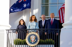 Scott Morrison's arrival in Washington marks the second state visit of Donald Trump's presidency.