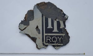 A piece of debris that is being examined as possible wreckage from Malaysia Airlines flight MH370.
