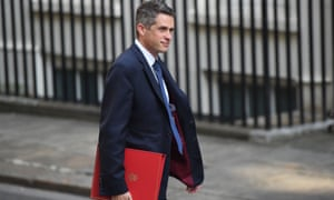 Gavin Williamson arriving for his first cabinet meeting as education secretary