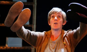 Big-hearted performance … Julie Hesmondhalgh as the unnamed narrator in The Greatest Play in the History of the World … at the Traverse, Edinburgh.