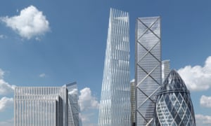 The wedge-shaped glass tower The Diamond, funded by a Hong Kong developer, will have a facade made up of elongated diamond shapes