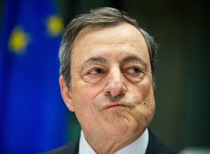 Mario Draghi attends a hearing of the European Parliament Committee