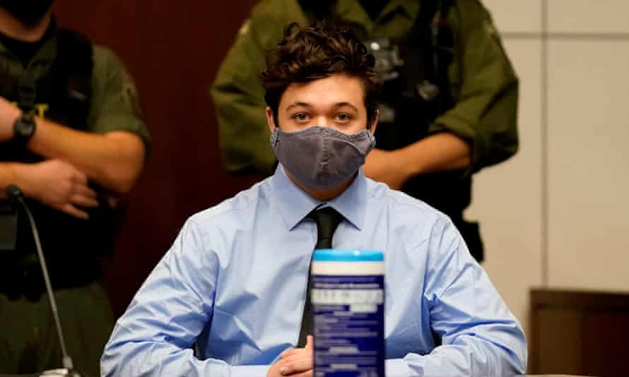 Kyle Rittenhouse during an extradition hearing in Lake county in Waukegan, Illinois, on 30 October 2020.