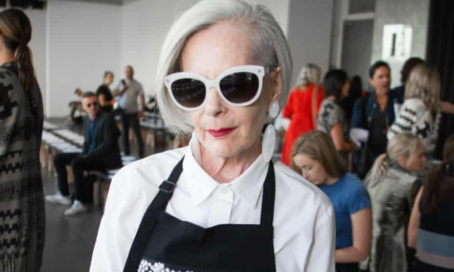 Fashion blogger Lyn Slater – now the face of Mango – at New York fashion week.