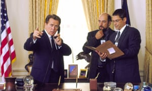 Martin Sheen, Richard Schiff and Rob Lowe West Wing