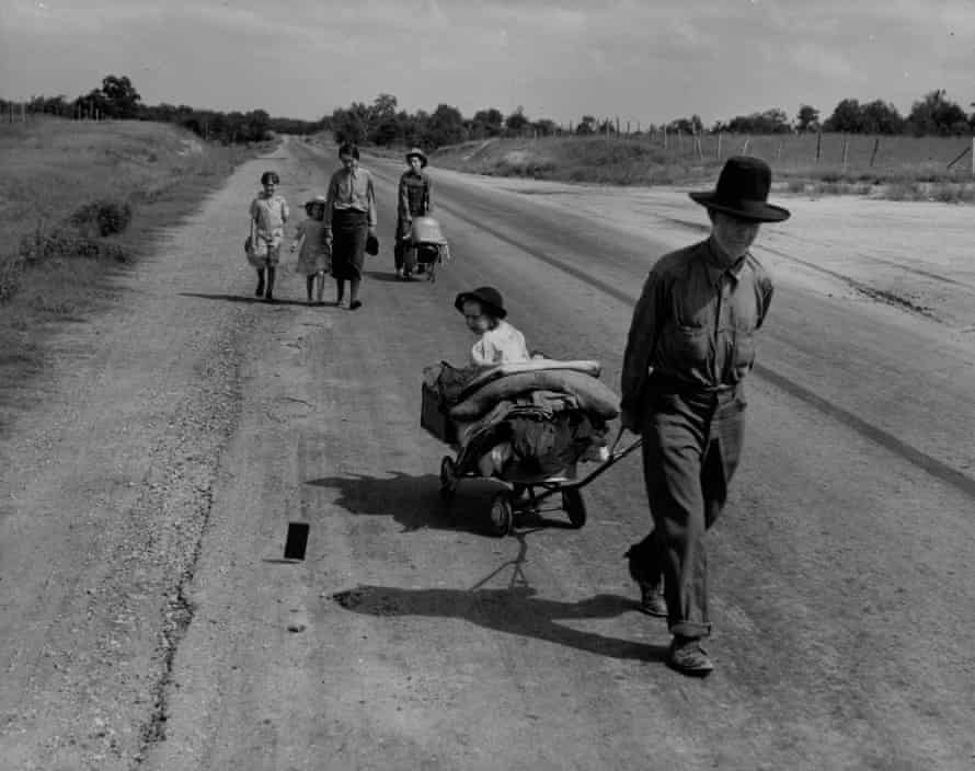 A family in Pittsburg County, Oklahoma, are forced to leave their home during the Great Depression, June 1938.