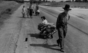 A family in Pittsburg County, Oklahoma, are forced to leave their home during the Great Depression.
