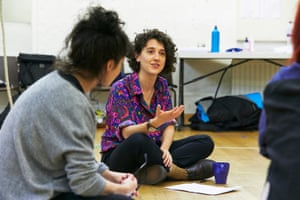 Ellie Kendrick in rehearsal for her new play Hole at the Royal Court.