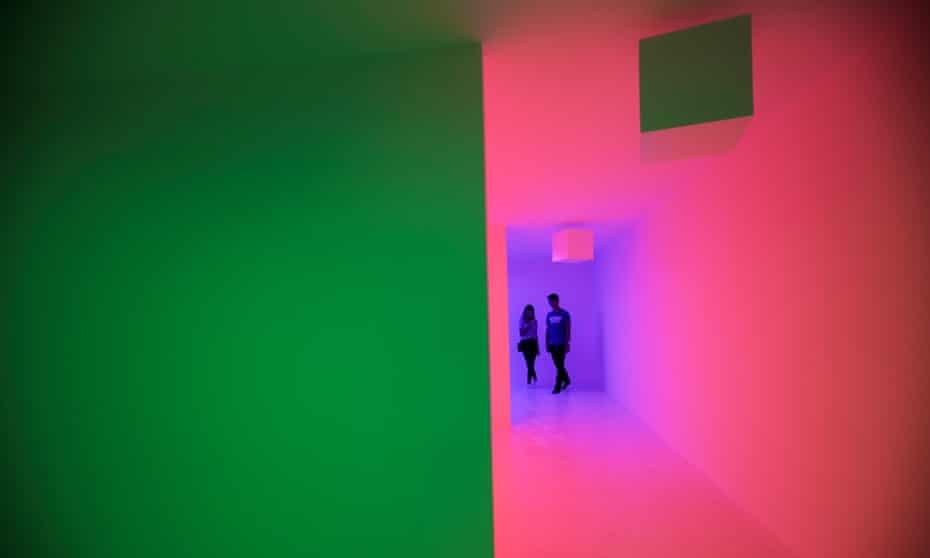 Carlos Cruz-Diez's exhibition El Color Haciendose in Panama City in July 2019.