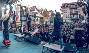 Hello Kathmandu! … Underside performing at the Silence festival of death metal.