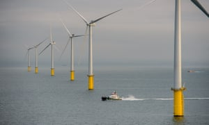 The first turbine at the £1.3bn Rampion windfarm