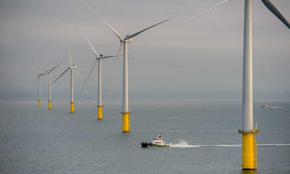 E.ON's Rampion windfarm, eight miles off the Sussex coast.