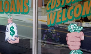 A US cash loans store. Hatcher points out that if there wasn't money to be made from the poor there wouldn't be so many companies vying for a piece of the pie.