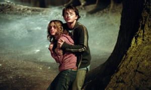 Emma Watson and Daniel Radcliffe in Harry Potter and the Prisoner of Azkaban, based on the books by JK Rowling.