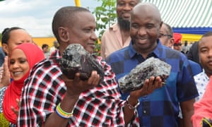 Saniniu Laizer earned £2.4m ($3.4m) from the country's mining ministry for the gemstones, which had a combined weight of 15kg.