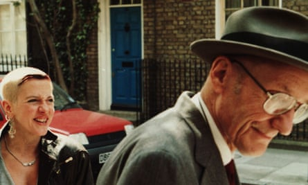 Acker with Burroughs in a still from the film William S Burroughs: A Man Within.