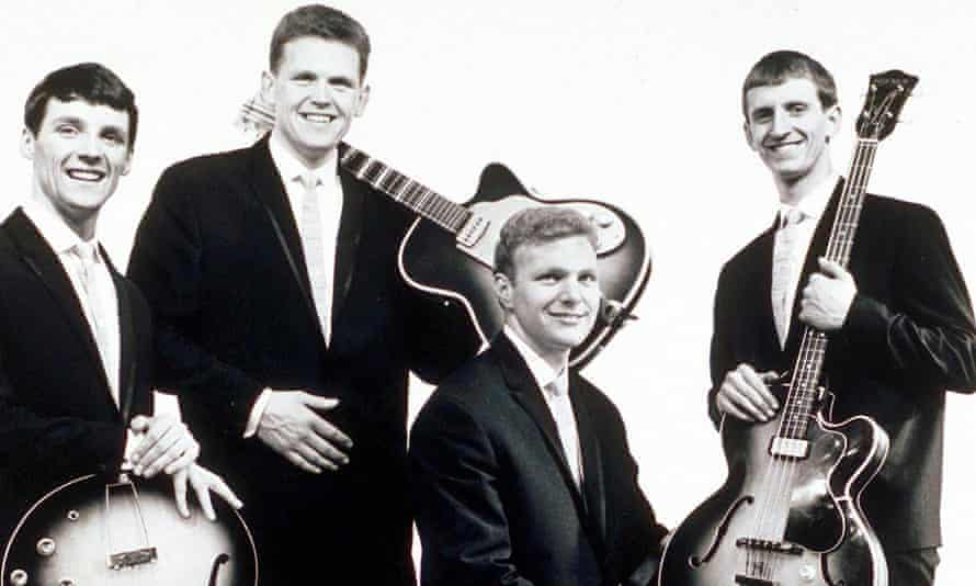 Billy Hatton, far right, with the Fourmost bandmates, from left, Brian O'Hara, Mike Millward, Dave Lovelady.