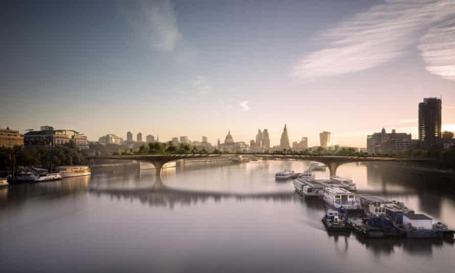 Thomas Heatherwick's design for a garden bridge in London