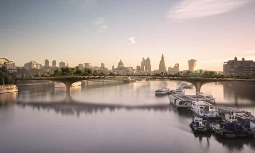 Murky genesis … Boris Johnson has been questioned over the origins of the garden bridge