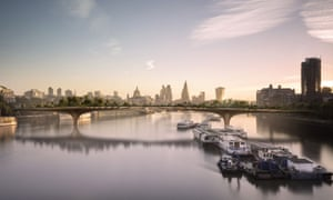 A CGI of the garden bridge across the Thames. The initial start date for work has already been put back from this autumn.