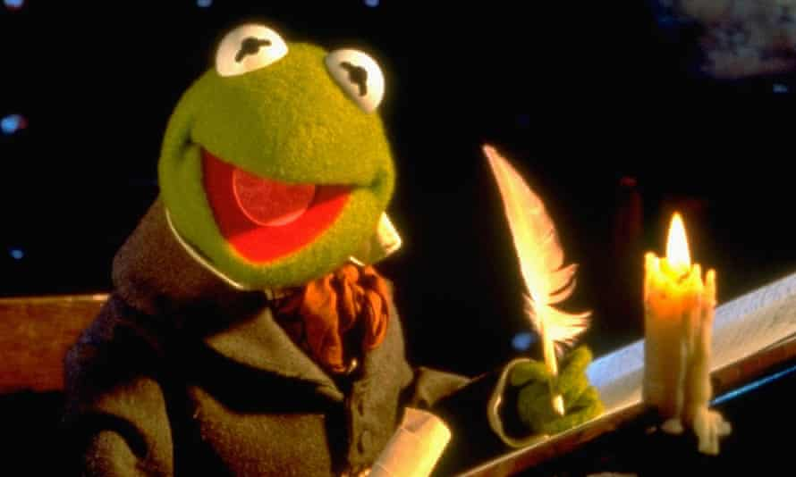 Come for the comedy, stay for the emotion: Kermit in The Muppet Christmas Carol.