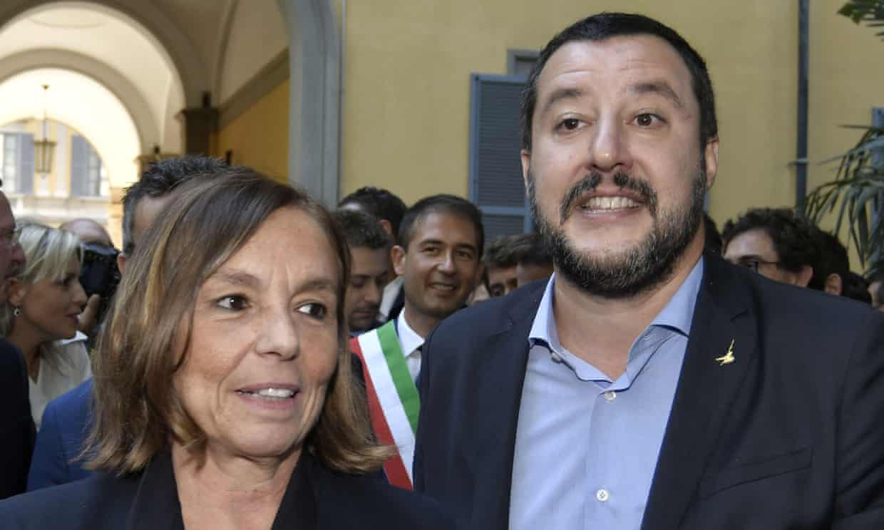 Luciana Lamorgese and Matteo Salvini