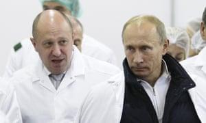 'Putin's chef' Yevgeny Prigozhin and Vladimir Putin