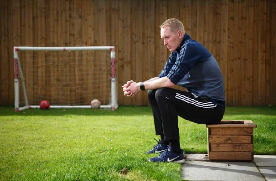 Chris Kirkland the former England and Liverpool goalkeeper poses for a portrait at his home in Aughton, Lancashire.