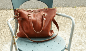 Faded glory: a well-used M Hulot bag.