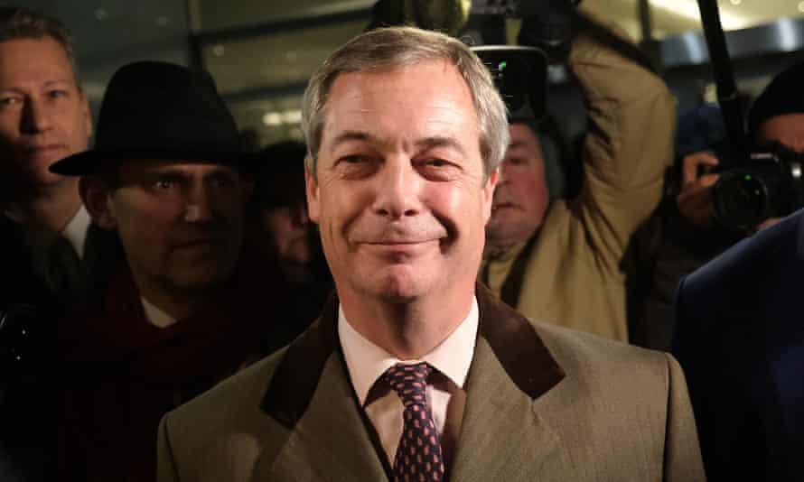 Nigel Farage smiling