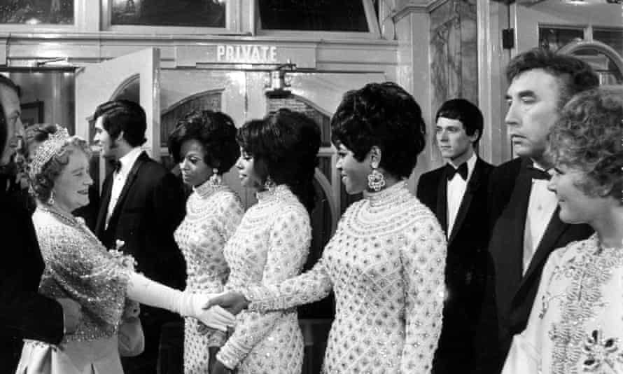 The Supremes meeting the Queen Mother.