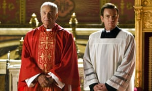 Surplice to requirements: Armin Mueller-Stahl and Ewan McGregor in Angels & Demons.