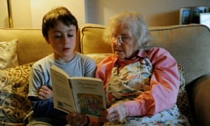 Story time: enjoying some much-needed 'grandma' time after a long lockdown.